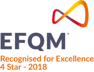 EFQM Recognised for Excellence 4 tähden tunnustus
